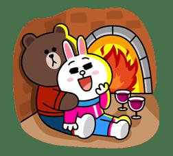 Brown & Cony's Cozy Winter Date sticker #27341