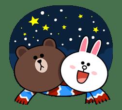 Brown & Cony's Cozy Winter Date sticker #27342
