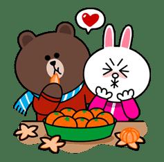 Brown & Cony's Cozy Winter Date sticker #27344