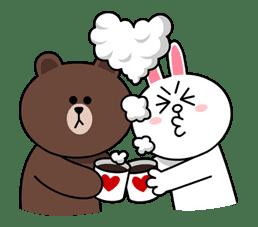 Brown & Cony's Cozy Winter Date sticker #27345