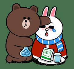 Brown & Cony's Cozy Winter Date sticker #27348