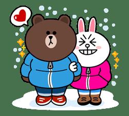 Brown & Cony's Cozy Winter Date sticker #27349