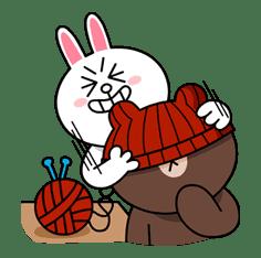 Brown & Cony's Cozy Winter Date sticker #27350