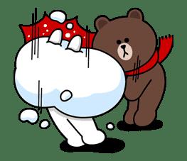Brown & Cony's Cozy Winter Date sticker #27352