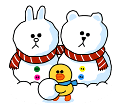 Brown & Cony's Cozy Winter Date sticker #27353