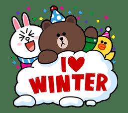 Brown & Cony's Cozy Winter Date sticker #27355