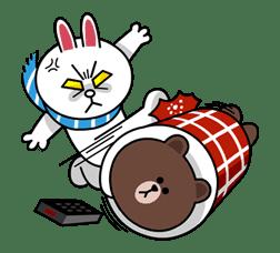 Brown & Cony's Cozy Winter Date sticker #27356