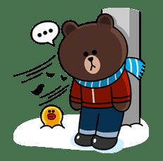 Brown & Cony's Cozy Winter Date sticker #27357