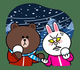 Brown & Cony's Cozy Winter Date sticker #27359