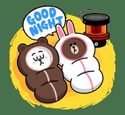 Brown & Cony's Cozy Winter Date sticker #27360