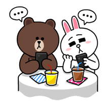 Brown & Cony's Thrilling Date sticker #257156