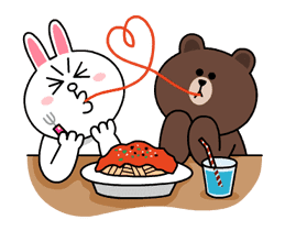 Brown & Cony's Thrilling Date sticker #257157
