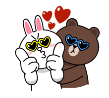 Brown & Cony's Thrilling Date sticker #257162