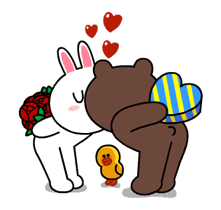 Brown & Cony's Thrilling Date sticker #257164
