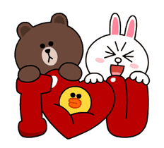 Brown & Cony's Thrilling Date sticker #257165