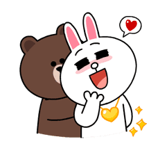 Brown & Cony's Thrilling Date sticker #257167