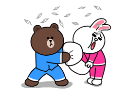 Brown & Cony's Thrilling Date sticker #257172