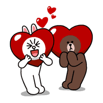 Brown & Cony's Thrilling Date sticker #257173