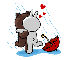 Brown & Cony's Thrilling Date sticker #257175