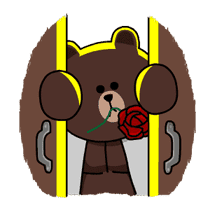 Brown & Cony's Thrilling Date sticker #257176