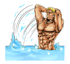 HOKUTO NO KEN -Strawberry flavor- sticker #2040400