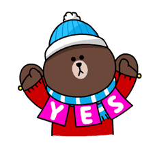 Brown & Cony's Snug Winter Date sticker #2923373