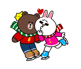 Brown & Cony's Snug Winter Date sticker #2923374