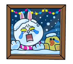 Brown & Cony's Snug Winter Date sticker #2923375