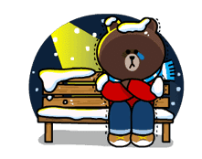 Brown & Cony's Snug Winter Date sticker #2923377