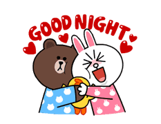 Brown & Cony's Snug Winter Date sticker #2923379