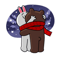 Brown & Cony's Snug Winter Date sticker #2923382
