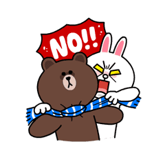 Brown & Cony's Snug Winter Date sticker #2923384