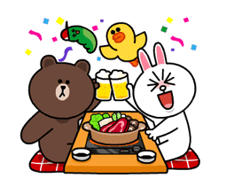 Brown & Cony's Snug Winter Date sticker #2923385