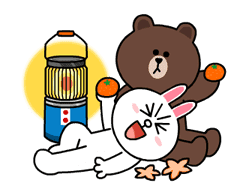 Brown & Cony's Snug Winter Date sticker #2923388