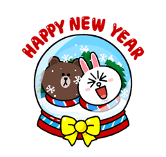 Brown & Cony's Snug Winter Date sticker #2923391