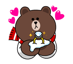 Brown & Cony's Snug Winter Date sticker #2923393
