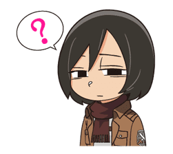 Attack on Titan Animated Stickers sticker #3190315