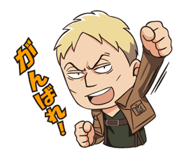 Attack on Titan Animated Stickers sticker #3190321