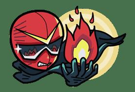 Super V Hero sticker #2740