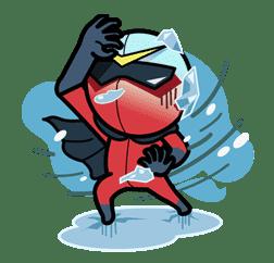 Super V Hero sticker #2751