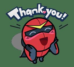 Super V Hero sticker #2758