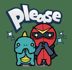 Super V Hero sticker #2759