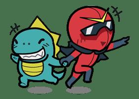 Super V Hero sticker #2763