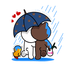 Brown & Cony's Lonely Hearts Date sticker #8683550