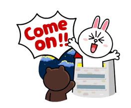 Brown & Cony's Lonely Hearts Date sticker #8683553