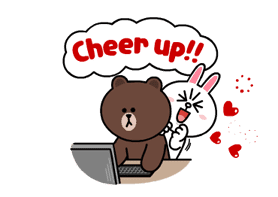 Brown & Cony's Lonely Hearts Date sticker #8683559