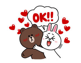 Brown & Cony's Lonely Hearts Date sticker #8683560