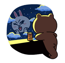 Brown & Cony's Lonely Hearts Date sticker #8683563