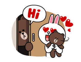 Brown & Cony's Lonely Hearts Date sticker #8683566