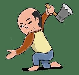 Mr. Baldy: Edition 2 sticker #3746